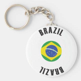 Brazil Flag Wheel Keychain