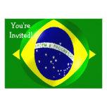 Brazil Flag With Bubble Invitation