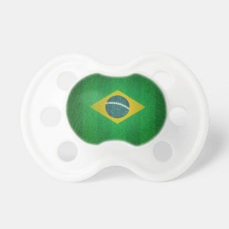 Brazil Flag With Soccer Field Texture Pacifiers