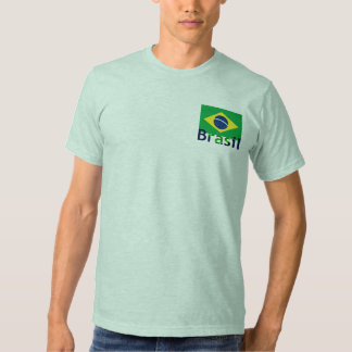 Brazil Flag With Text Design Tee Shirts