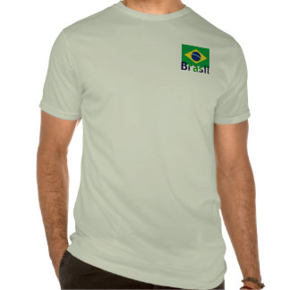 Brazil Flag With Text Design T-shirts