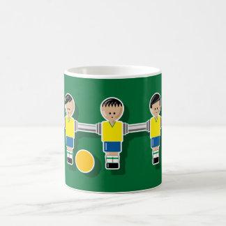 Brazil foossball classic white coffee mug