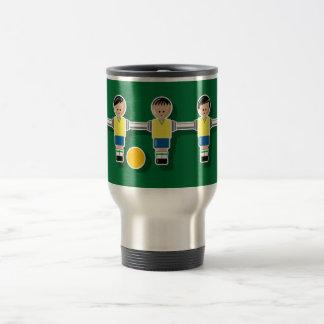 Brazil foossball 15 oz stainless steel travel mug