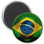Brazil Football 2 Inch Round Magnet