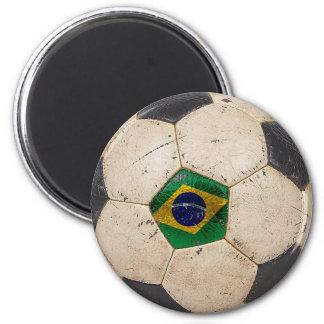 Brazil Football 2 Inch Round Magnet