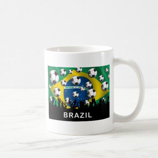 Brazil Football Classic White Coffee Mug