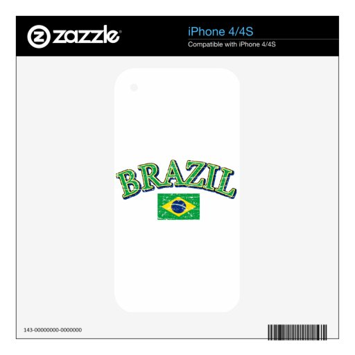 Brazil football design decal for the iPhone 4S