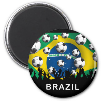 Brazil Football Refrigerator Magnets