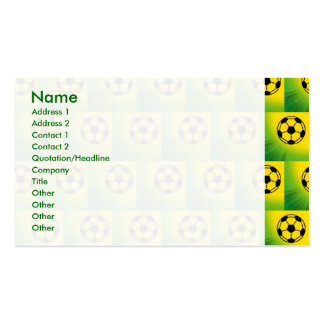 Brazil football pattern Double-Sided standard business cards (Pack of 100)