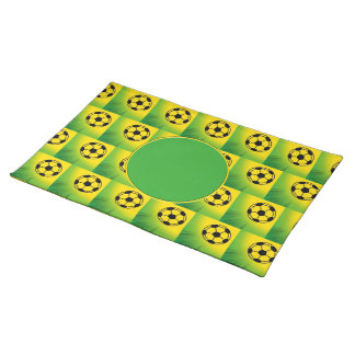 Brazil football pattern cloth placemat