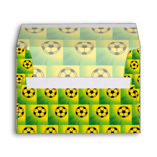 Brazil football pattern envelope