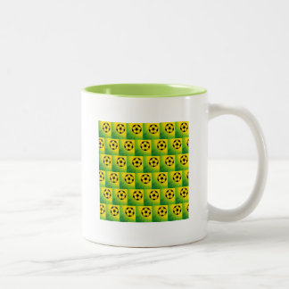 Brazil football pattern Two-Tone coffee mug