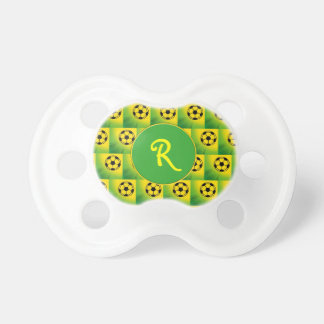 Brazil football pattern BooginHead pacifier