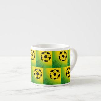 Brazil football pattern 6 oz ceramic espresso cup