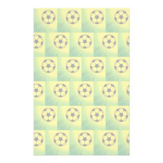 Brazil football pattern stationery