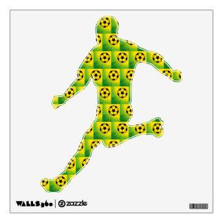 Brazil football pattern wall sticker