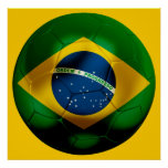 Brazil Football Print