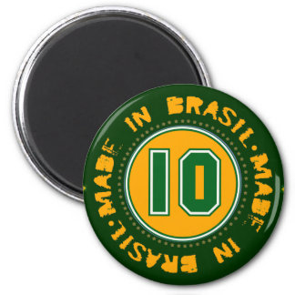 Brazil for the freezer 2 inch round magnet