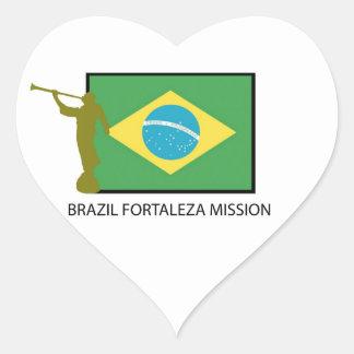 BRAZIL FORTALEZA MISSION LDS HEART STICKER