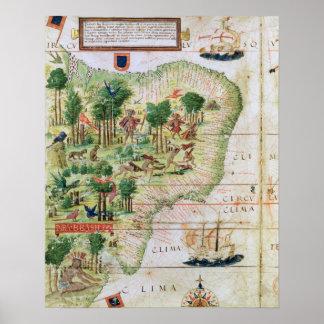 Brazil from the 'Miller Atlas' Poster