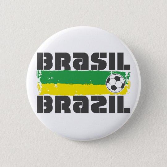 Brazil Futbol Pinback Button