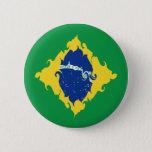 Brazil Gnarly Flag Button