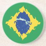 Brazil Gnarly Flag Coaster