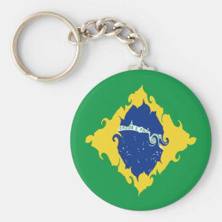 Brazil Gnarly Flag Keychain