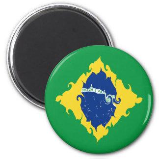 Brazil Gnarly Flag Fridge Magnets