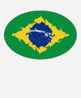 Brazil Gnarly Flag T-Shirt