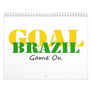 Brazil - Goal Game On Wall Calendars