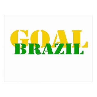 Brazil - Goal Postcard
