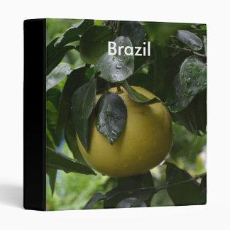 Brazil Grapefruit 3 Ring Binder