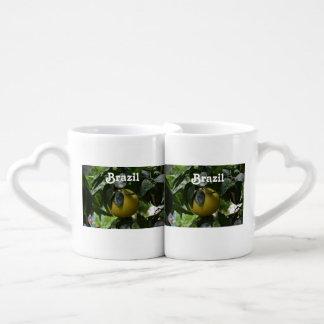 Brazil Grapefruit Couples Coffee Mug