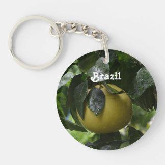Brazil Grapefruit Single-Sided Round Acrylic Keychain