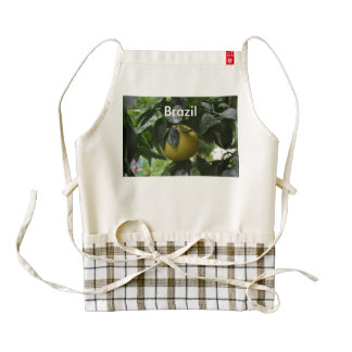 Brazil Grapefruit Zazzle HEART Apron