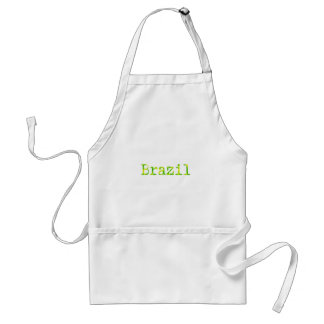 Brazil Green and Yellow Font Apron