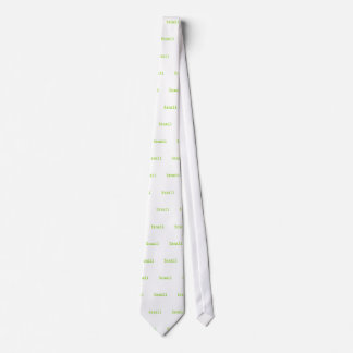 Brazil Green and Yellow Font Neck Tie