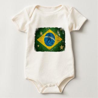 Brazil Grunge flag for Brazilians worldwide Bodysuit