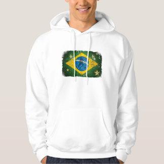 Brazil Grunge flag for Brazilians worldwide Hoodie