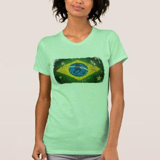 Brazil Grunge flag for Brazilians worldwide Tshirt