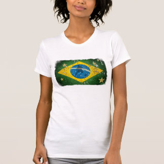 Brazil Grunge flag for Brazilians worldwide Tee Shirts