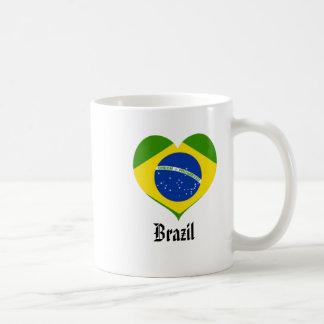 Brazil heart mug