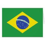 Brazil High quality Flag Greeting Cards