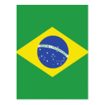 Brazil High quality Flag Postcard