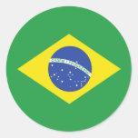 Brazil High quality Flag Round Sticker