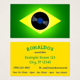 Brazil inspired Record Store Business Card