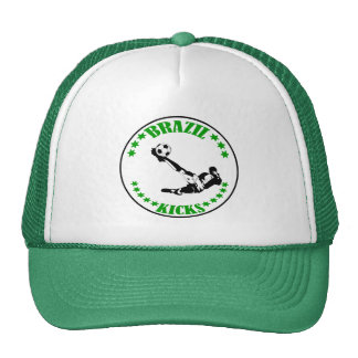 BRAZIL KICKS TRUCKER HAT