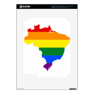 Brazil LGBT Flag Map Decal For iPad 3