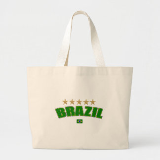 Brazil Logo 5 gold star cup winners tees and gifts Canvas Bags
